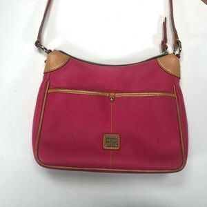 Dooney & Bourke Womens Pink Leather Shoulder Bag